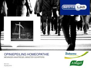 Opiniepeiling  homeopathie