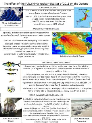 The effect of the Fukushima nuclear disaster of 2011 on the Oceans