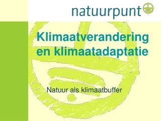 Klimaatverandering en klimaatadaptatie