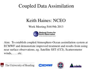 Coupled Data Assimilation