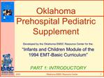Oklahoma Prehospital Pediatric Supplement