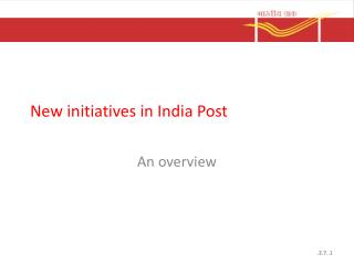 New initiatives in India Post