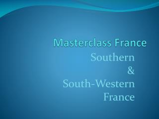 Masterclass France