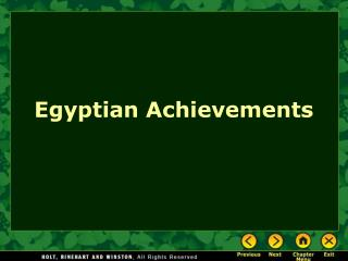 Egyptian Achievements
