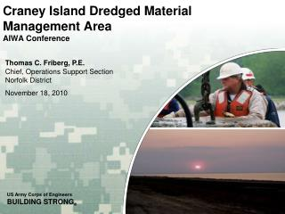 Craney Island Dredged Material  Management Area AIWA  Conference
