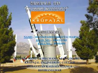 "SEMINAR   ON ""GUIDED MISSILES"""