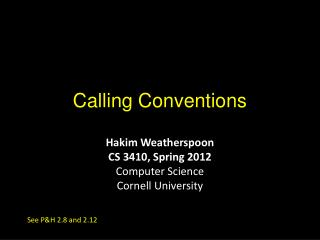 Calling Conventions