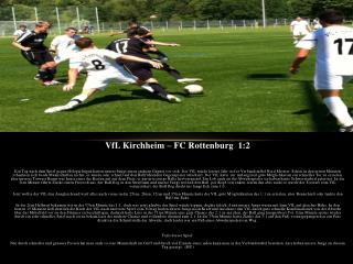 VfL Kirchheim – FC Rottenburg  1:2