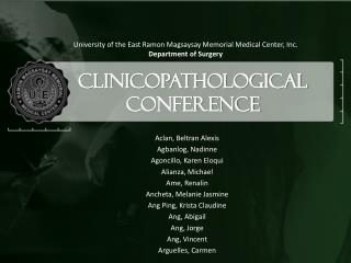 Clinicopathological  Conference