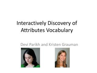 Interactively Discovery of Attributes Vocabulary
