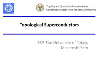 Topological Superconductors