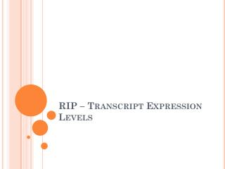 RIP – Transcript Expression Levels