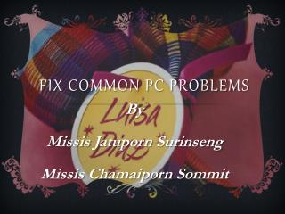 Fix common PC problems