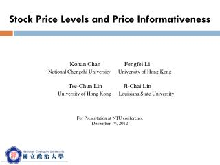 Stock Price Levels and Price Informativeness