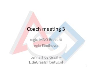 Coach meeting 3