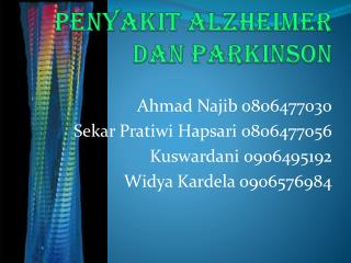 Penyakit alzheimer dan parkinson