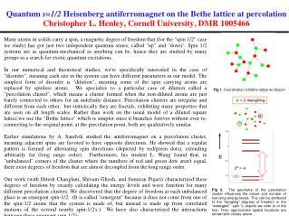 Fig  1 . C oordination  3 Bethe lattice  w/ dilution
