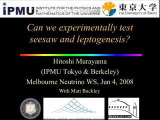 Can we experimentally test  seesaw and leptogenesis?