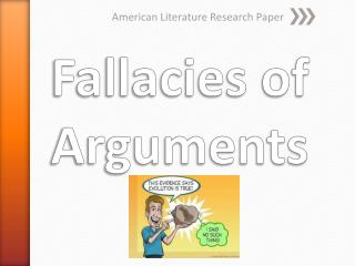 Fallacies of Arguments