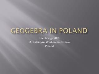 Geogebra  IN Poland