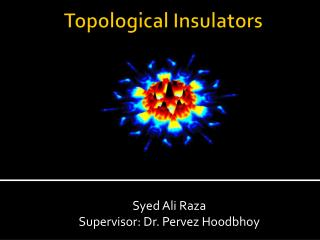 Topological Insulators