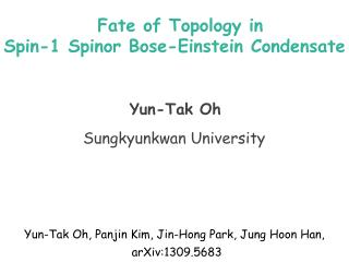 Fate of Topology in  Spin-1  Spinor  Bose-Einstein Condensate