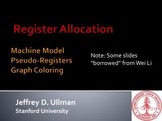 Machine Model Pseudo-Registers Graph Coloring
