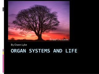 Organ Systems and Life