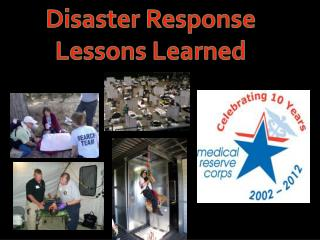 Disaster Response  Lessons  Learned