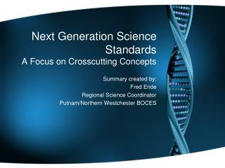 Next Generation Science Standards A Focus on Crosscutting Concepts