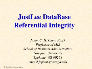 JustLee DataBase Referential Integrity