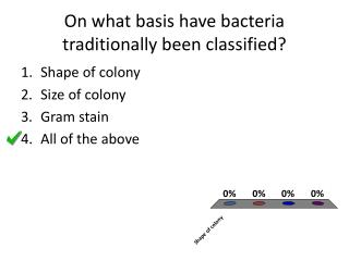 On what basis have bacteria traditionally been classified?