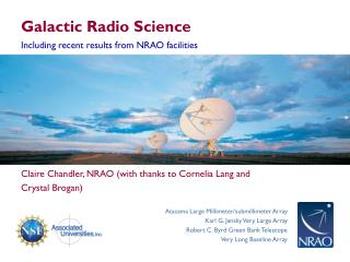 Galactic Radio Science