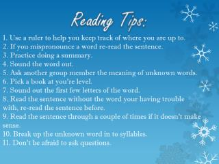 Reading Tips:
