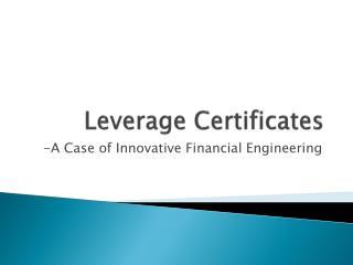 Leverage Certificates