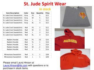 St. Jude Spirit Wear in stock