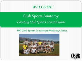 Club Sports Anatomy Creating Club Sports Constitutions