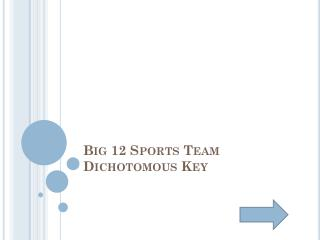 Big 12 Sports  Team Dichotomous Key
