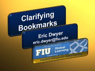 Clarifying Bookmarks