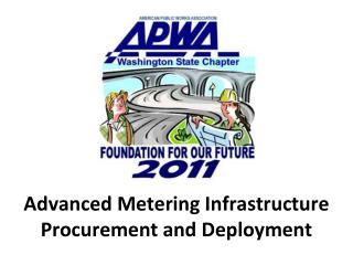 Advanced Metering Infrastructure  Procurement and Deployment