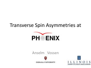 Transverse Spin Asymmetries at