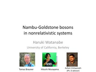 Nambu-Goldstone bosons  in  nonrelativistic systems
