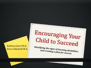 Encouraging Your Child to Succeed