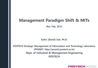 Management Paradigm Shift & MITs