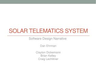 Solar Telematics System