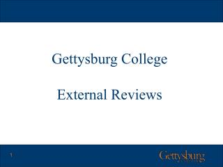 Gettysburg College External Reviews