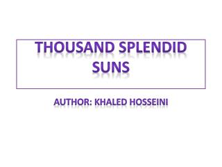 a summary and analysis of a thousand splendid suns by khaled hosseini A thousand splendid suns free online chapter summary book notes  a  thousand splendid suns by khaled hosseini - analysis/synopsis.