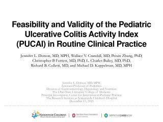 Jennifer  L. Dotson, MD, MPH Assistant Professor of Pediatrics