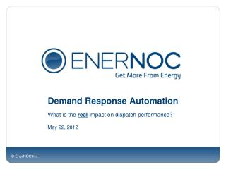 Demand Response Automation