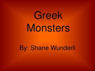 Greek Monsters